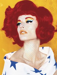 Masterpiece for Zinc Magazine December 2005 is a Roy Lichenstein inspired beauty editorial photographed by Mike Ruiz with makeup artist Roberto Muniz.