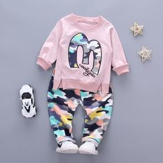 Mother & Kids Pudcoco 2pcs Baby Boys Girls Clothes Set Newborn Toddler Baby Hoodies Top Camo Pants Leggings Camouflage Outfits Set Removing Obstruction
