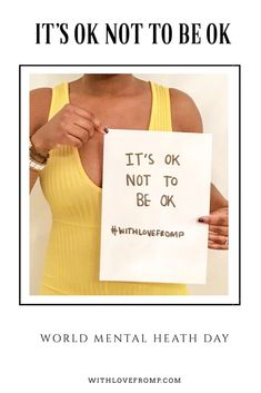 It's mental health awareness day. World Mental Heath Day, Work Qoutes, Mental Health Awareness Day, Low Mood, Coping With Depression, Developmental Disabilities, Overcoming Anxiety, Co Parenting, Blog Tips