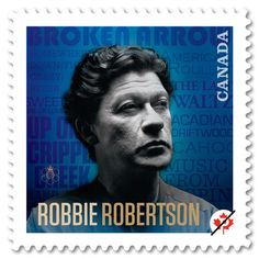 Musician Robbie Robertson, a stamp issued by Canada, 2011