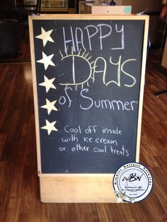 Happy days of summer Chalkboard Signs, Happy Day, Art Quotes, Cool Stuff, Creative, Summer, Summer Time, Summer Recipes