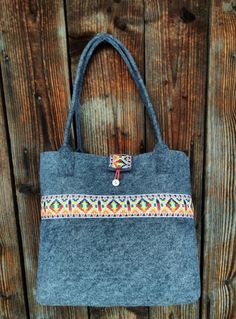Torba filcowa na ramie etno Reusable Tote Bags, Fashion, Moda, Fashion Styles, Fashion Illustrations