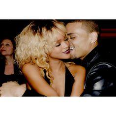 Hip-Hop Rumors Jigga What? Chris Brown And Rihanna All Hugged Up At... ❤ liked on Polyvore featuring rihanna
