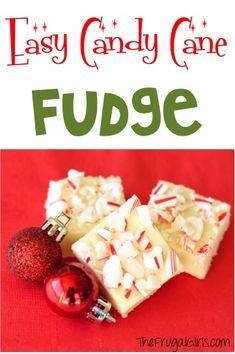 Candy Cane Fudge Recipe - from TheFrugalGirls.com