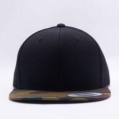 20d18476c5c Wholesale Flexfit Yupoong 6089TC 6 Panel Premium Classic Snapback Hat   Black Camo . Acorn Fit