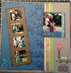 A Layout I enjoyed doing using my cricut to cut out the photo strip and Close to my Heart stamp set Fast and Furious for the background stamping and all the other elements on the page. I like how I was able to cut my photos down so I just focus on Hallie and Ashley and not all the messy background Lasting Memories, Fast And Furious, Close To My Heart, My Photos, Stamping, Cricut, Stamps, Stamp Sets, Scrapbook Stamping
