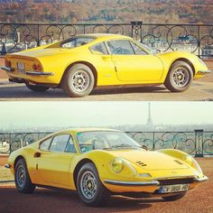 """I believe most things can be said in a few lines."" - Enzo Ferrari  1971 Dino 246 GT, up for auction in Paris February 5th.  #curves #ferrari #car #wheels #classic #vintage #dino #rmauctions #retromobile #Padgram"