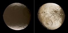 "spaceexp: "" Saturn's yin yang moon, Iapetus """