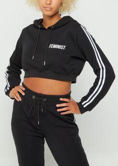 Black feminist cropped hoodie/rue 21