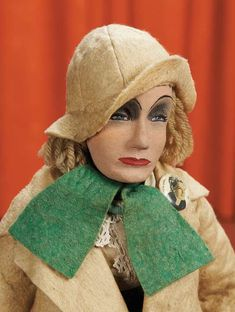 Curtain Call- The Collection of Billie Nelson: 205 Cloth Portrait Doll Depicting Greta Garbo