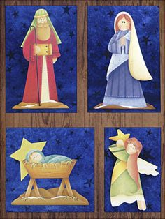 View more images from On Christmas Morn Christmas Ornaments To Make, Christmas Nativity, Christmas Love, Christmas Themes, Christmas Crafts, Christmas Decorations, Felt Ornaments, Nativity Painting, Tole Painting