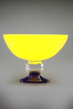 Kosta Boda Frutteria Footed Bowl In Yellow