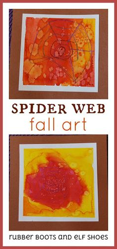 Kindergarten children create beautiful spider web art with crayons and water colour paints Spider Art Preschool, Elf Shoes, Autumn Activities For Kids, Fall Projects, Christmas Paintings, Halloween Spider, Autumn Art, Paint Colors, Watercolor Paintings
