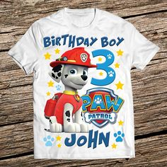 Paw Patrol Family Birthday Shirt Personalized 3rd Parties Boy