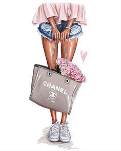 Fashion Drawings, Fashion Design Sketches, Illustration Girl, Illustration Artists, Design Illustrations, Fashion Illustration Chanel, Fashion Illustrations, Fashion Wall Art, Fashion Prints