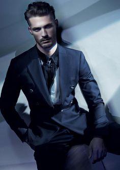 Armani Versace Model   Male Models Giorgio Armani   Ben Hill