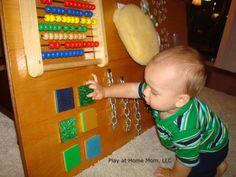 Homemade sensory boards