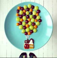 Creative Kid's Plate: Up Up and Up!