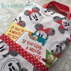 Minnie Mouse Travel Pillow with Pocket by MyBirchBaby on Etsy