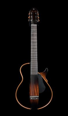 Yamaha Silent Guitar Inspired by traditional classical guitar design, the features a slim neck, thin body, and low action that lets players Fender Acoustic Guitar, Jazz Guitar, Cool Guitar, Yamaha Silent Guitar, Yamaha Guitar, Types Of Guitar, Guitar Photos, Guitar Tuners, Cool Electric Guitars