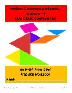 No Prep! Grade 0-1 Numbers and Counting Practice Workbook