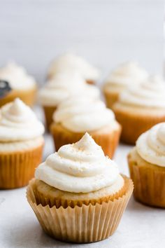 Cupcakes are always a good idea! These deliciously simple Chai Cupcakes are topped with a sweet and savory brown butter chai icing to complete the ultimate dessert. Share this recipe with friends and watch it turn into everyone's new favorite treat. Cupcake Recipes, Baking Recipes, Cupcake Cakes, Baking Cupcakes, Cupcake Ideas, Cup Cakes, Brownies, Peach Moscato, Biscotti