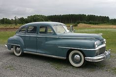 """1946 DeSoto Custom 4 door Sedan I had one of these in light gray. It was a """"Tank"""". I was afraid on nothing when I was in it."""