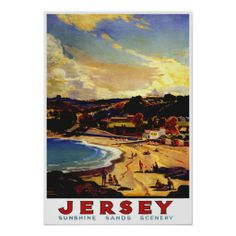 vintage jersey poster