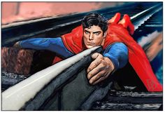 Christopher Reeve as Superman (1978) ... a tribute illustration by artist and filmmaker David De Bartolome