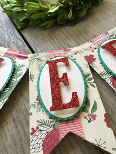 Christmas in July: Banners Christmas Bunting, Holiday Banner, Christmas Love, All Things Christmas, Christmas Wreaths, Christmas Decorations, Christmas Ornaments, Diy Banner, Bunting Banner