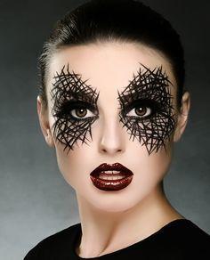 Halloween Makeup Looks Halloween-Make-upblicke . Yeux Halloween, Cool Halloween Makeup, Halloween Makeup Looks, Diy Halloween, Halloween Costumes, Halloween Face, Halloween Tipps, Facepaint Halloween, Halloween Witches
