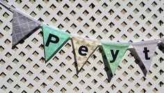 Woodland Nursery NAME Banner Mint Gray Gold Wild One First Birthday Triangle Fabric Banner Mint Gray Baby Shower Photo Prop Smash Cake by GmaCustom4You on Etsy