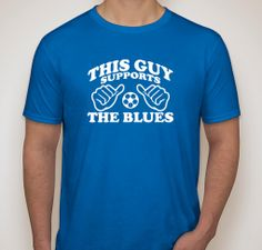 This Guy Supports The Blues Chelsea FC Fan Football Club Soccer Shirt Mens T-Shirt Husband Boyfriend Dad Father Gift Chelsea Soccer, Chelsea Fc, Welder Shirts, Soccer Shirts, Gifts For Hubby, Funny Tees, Shirts With Sayings, Getting Married, Outfit Of The Day