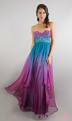 Floor Length Embellished Dave and Johnny Prom Dress at PromGirl.com