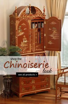 Visit China Furniture Online and find unique home furnishings and accessories like no other. Find styles from Chinoiserie, Ming, Mother of Pearl and more! Asian Furniture, Chinese Furniture, Dark Furniture, Oriental Furniture, Furniture Decor, Painted Furniture, Visit China, Chinoiserie Chic, Asian Decor