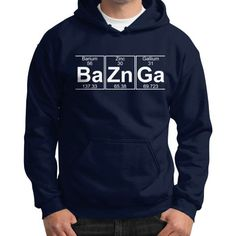 Ba Zn Ga (baznga) Gildan Hoodie (on man) Shirt