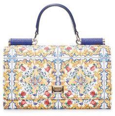 9f88c396c0ff1 Dolce   Gabbana Women s Mallorca Print Calfskin Leather Wallet On A Chain -  White - ShopStyle