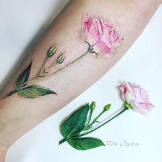 Eustoma flower for my #plantsportraitsseries  #pissarotattoo #pissaro…
