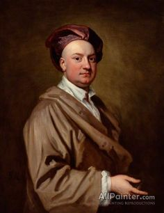 Sir Godfrey Kneller, Bt. Jacob Tonson Ii oil painting reproductions for sale