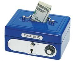 Puşculiţă cu cifru albastră Cash Box, Magick