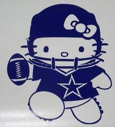 Hello Kitty Dallas Cowboys Football Car Truck Window Vinyl Decal Sticker   eBay