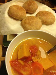 Simple soup n bread dinner
