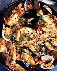 Seafood-and-Chicken Paella with Chorizo Recipe from Food & Wine