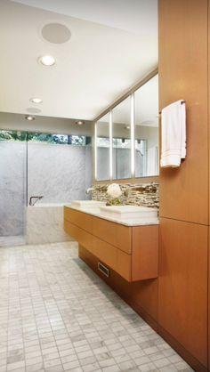 Modern Bathroom Ceramic Tile Chrome Eichler Bathroom Design