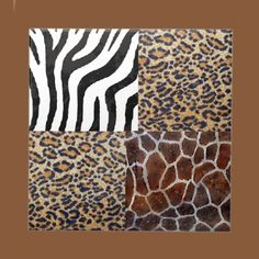 "Safari  The ""Safari"" design features a combination of zebra, giraffe and leopard animal skin patterns. A wild look to liven up your kitchen decor, and functional for use on the table."