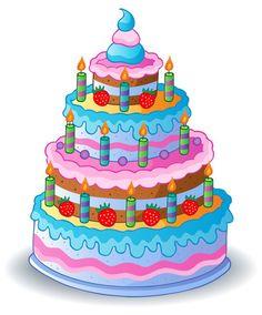 Fototapeta Winylowa Zdobione tort urodzinowy 1 - Świętowanie