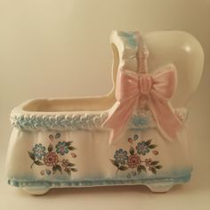 Cute vintage bassinet baby / nursery planter.