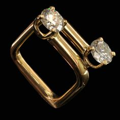 Ring | Dinh Van. 18kt gold, diamonds. c. 1980.