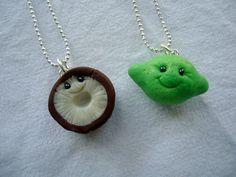 Lime & Coconut Best Friends Neckalaces by ArtbyAshLigon on Etsy, $12.99