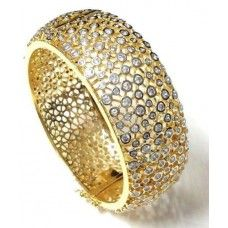 Gold Diamond Bracelet. Wow them in style......